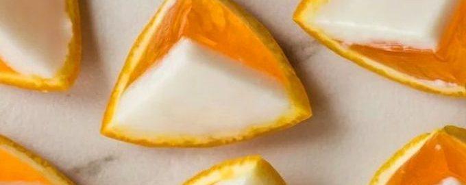 Апельсиновое желе в апельсиновых корках к Новогоднему столу