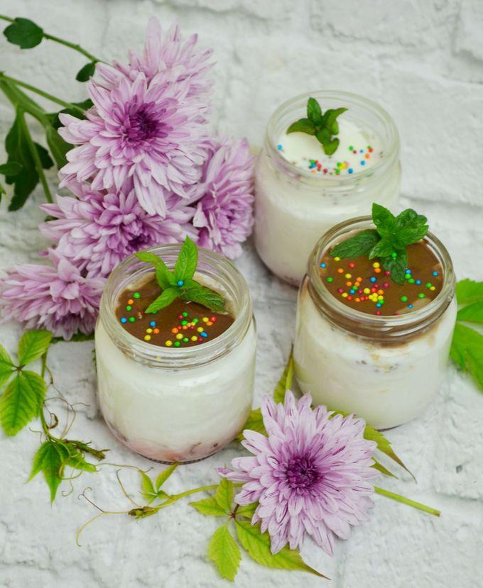 Домашний йогурт с вишней
