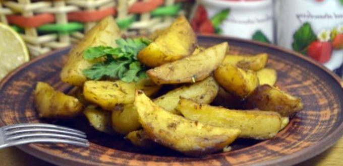 Картошка в духовке с соевым соусом