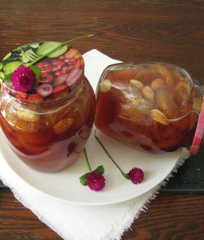Персиковое варенье на зиму с орехами