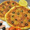 Пицца с сыром и морепродуктами