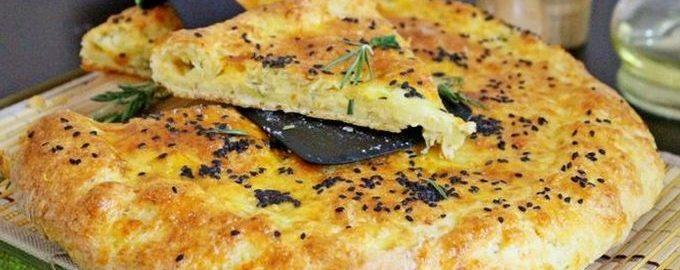 Рецепт лепешки с сыром и творогом