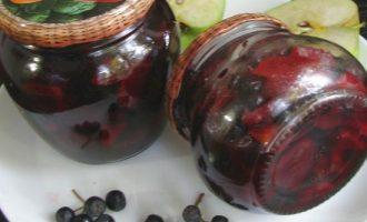 Варенье черноплодной рябины с яблоками