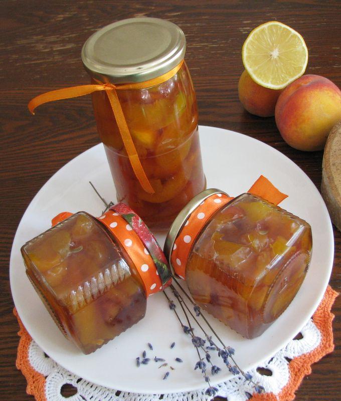Варенье из персиков с розмарином