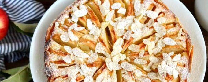 Яблочный пирог с крем чизом