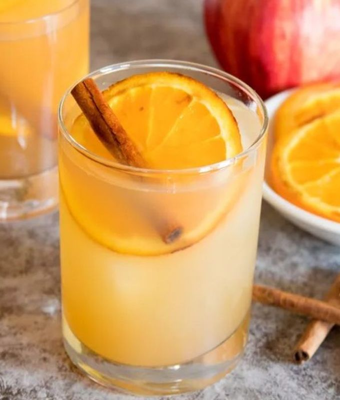 Яблочный сидр с карамелизированными апельсинами